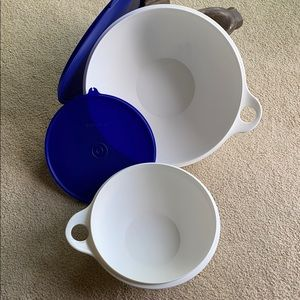 Two Tupperware Mixing Bowls. Good Condition.